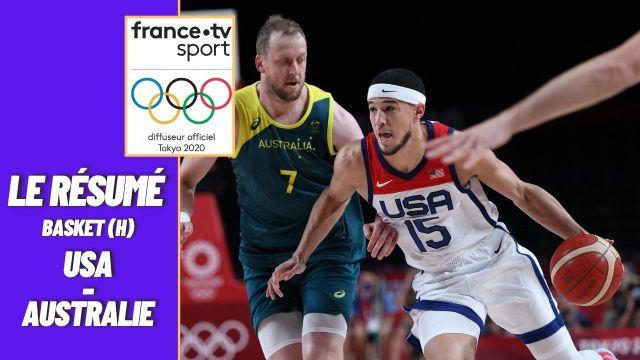 Comme à Pékin, Londres et Rio, la Team USA rejoint la finale du tournoi olympique grâce à sa victoire 97-78 face à l'Australie. Un score flatteur, tant les Américains ont souffert en première période.   Revivez le succès difficile des Etats-Unis avec le résumé de cette demi-finale.