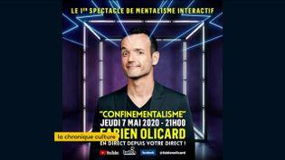 L'affiche du spectacle interactif du mentaliste Fabien Olicard (FRANCEINFO)