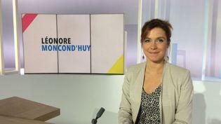 """Léonore Moncond'huy invitée de """"Dimanche en politique"""", le 10 novembre 2019. (Caroline Hubert - France Télévisions)"""