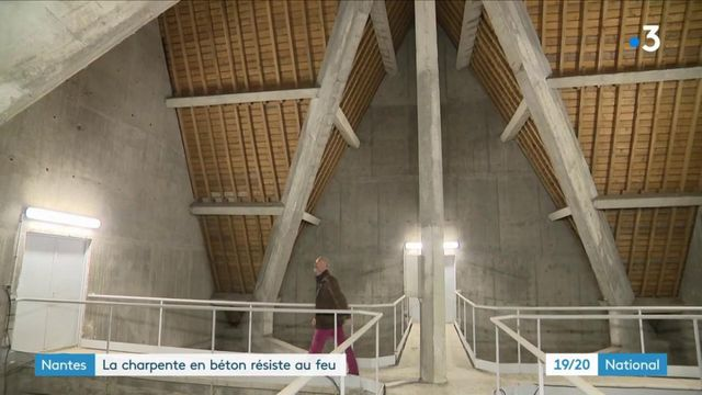 Nantes : la charpente en béton résiste au feu