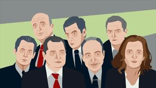 Les sept candidats de la primaire à droite participent à un dernier débat jeudi 17 novembre, sur France 2. (DIEGO MIRANDA / FRANCEINFO)