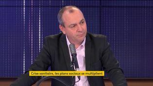 Laurent Berger, sur franceinfo, le 27 novembre 2020. (FRANCEINFO / RADIO FRANCE)