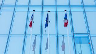 Le tribunal de grande instance de Paris, situé porte de Clichy, le12 septembre2020. (MATHIEU MENARD / HANS LUCAS / AFP)