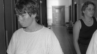 Murielle Bolle, le 30 juin 1986 au Palais de justice de Dijon. (ERIC FEFERBERG / AFP)
