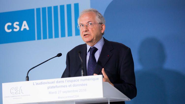 Le président du CSA, Olivier Schrameck, le 27 septembre 2016. (MAXPPP)