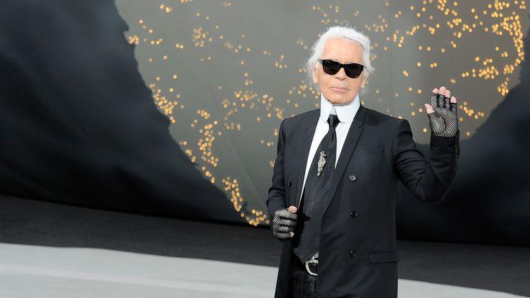 Karl Lagerfeld en mars 2013 à Paris.  (Gettyimages)