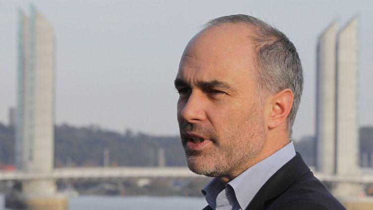 Gilles Boyer, bras droit d'Alain Juppé, lors du meeting de Nicolas Sarkozy à Bordeaux (Gironde), le 24 novembre 2014. (MAXPPP)