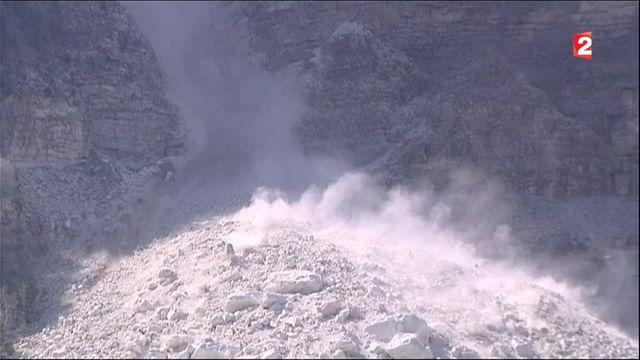 Isère : des laves torrentielles sur les flancs du mont Granier