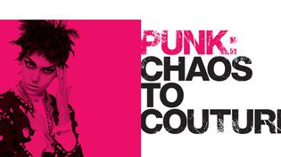 "Affiche de l'exposition ""Punk : du chaos à la couture""  (MET de New York (USA))"