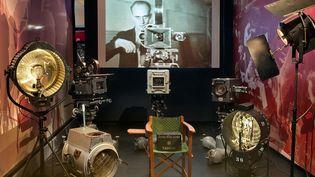 """Scénographie exposition """"De Méliès à la 3D : la machine cinéma"""", Cinémathèque française  (Stéphane Dabrowski / La Cinémathèque française.*)"""