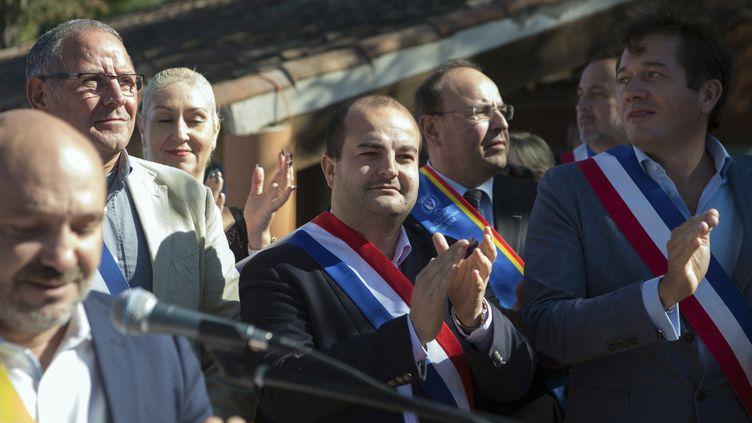 Le maire de Fréjus (Var), David Rachline, le 8 octobre 2016 à Pierrefeu-du-Var (Var). (BERTRAND LANGLOIS / AFP)