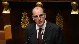 Le Premier ministre, Jean Castex, lors de sa déclaration de politique générale, le 15 juillet 2020 à l'Assemblée nationale. (MARTIN BUREAU / AFP)
