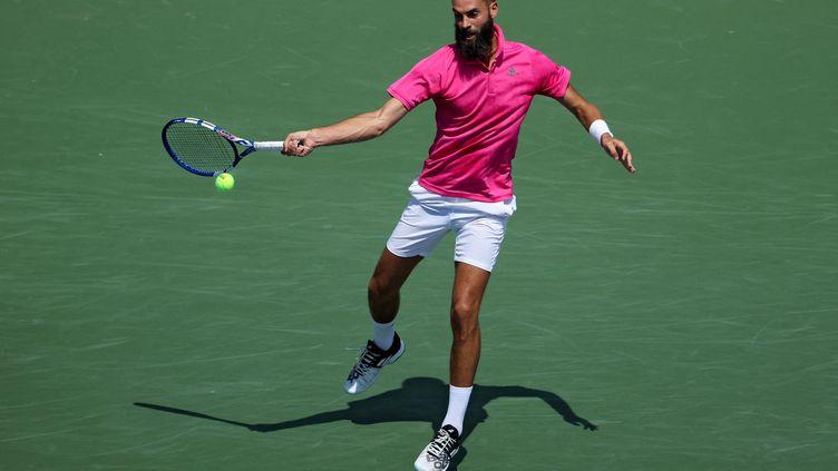 Benoit Paires'est incliné face à Andrey Rublev en quarts de finale du tournoi de Cincinnati, le 20 août 2021. (DYLAN BUELL / AFP)