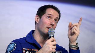 L'astronaute français Thomas Pesquet à Cologne (Allemagne) le 6 juin 2017. (OLIVER BERG / PICTURE ALLIANCE / GETTY)