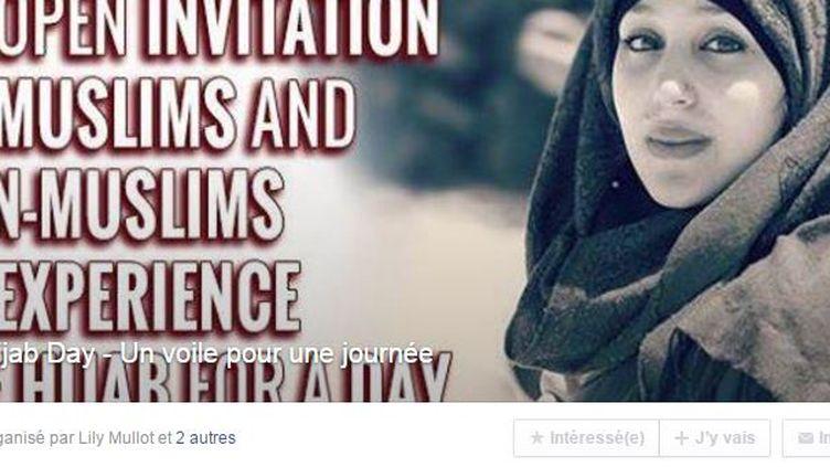"""L'opération """"Hijab day"""" estdestinée à """"prendre conscience du regard de l'autre"""", et à """"montrer que nous disposons de nos corps comme nous l'entendons"""", écrivent les organisateurs sur la page Facebook de l'événement. (FACEBOOK)"""