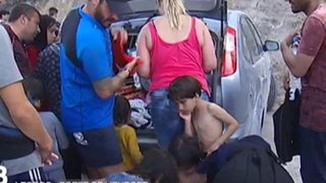 L'accueil difficile des réfugiés sur île de Lesbos