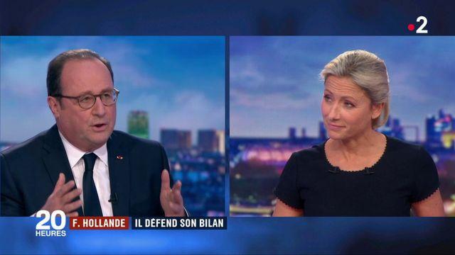 François Hollande, invité du 20h, défend son bilan politique