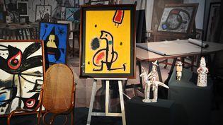 Une exposition consacrée àJoan Miró à Rome (15 mars 2012)  (Vincenzo Pinto / AFP)