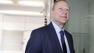 Philippe Goujon,vice-président de la commission Transports au Conseil de Paris, maire LR du 15e arrondissement. (FRANCOIS GUILLOT / AFP)