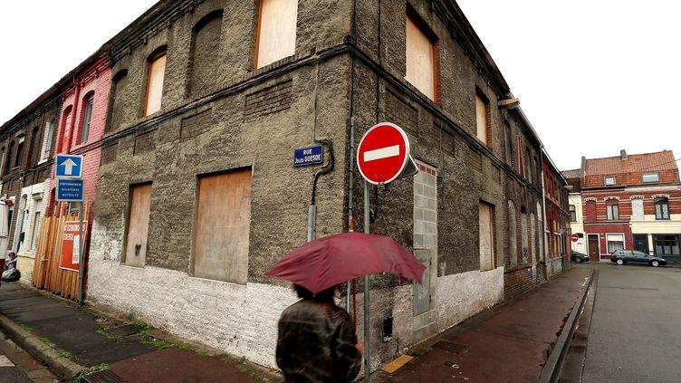 Des maisons vacantes, à Roubaix, le 14 juillet 2015. (MAXPPP)