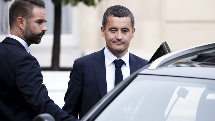 Gérald Darmanin à la sortie du palais de l'Elysée le 31 août 2018. (VINCENT ISORE / MAXPPP)