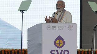 Le Premier ministre indien Narendra Modi lors d'un discours àAhmedabad en Inde, le 2 août 2019. (ANCELA JAMINDAR / THE TIMES OF INDIA)
