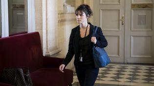 La députée Sandrine Le Feur arrive à l'Assemblée nationale, à Paris, le 25 octobre 2017. (MAXPPP)