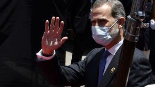 Le roi d'Espagne, Felipe VI, à La Paz (Bolivie), le 8 novembre 2020. (AIZAR RALDES / AFP)