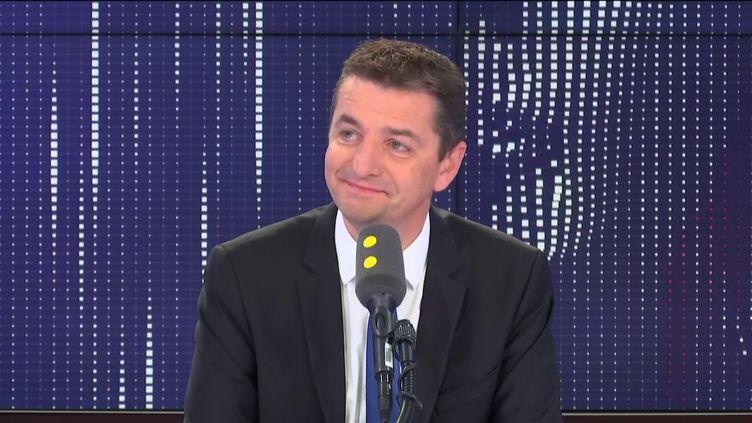 Gaël Perdriau, le maire de Saint-Étienne, était l'invité de franceinfo dimanche 13 octobre 2019. (FRANCEINFO / RADIO FRANCE)