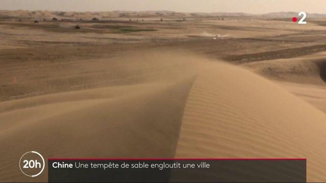 Chine : une impressionnante tempête de sable engloutit une ville
