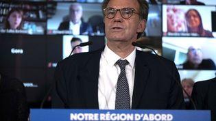 Le président de la région Paca, Renaud Muselier, à Marseille (Bouches-du-Rhône), le 14 mai 2021. (CHRISTOPHE SIMON / AFP)