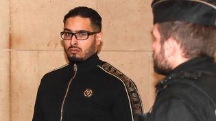 Jawad Bendaoud lors de son arrivée au tribunal de Paris, le 21 novembre 2018. (JACQUES DEMARTHON / AFP)