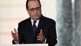 François Hollande, lors de la conférence de presse organisée le jeudi 5 février 2015 à Paris. (ALAIN JOCARD / AFP)