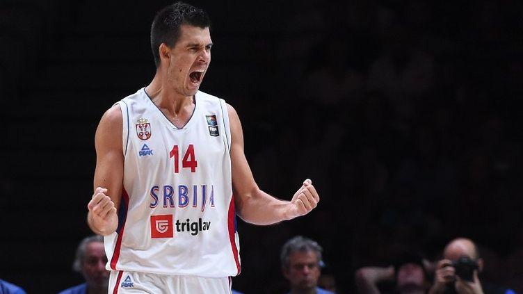 La joie du Serbe Zoran Erceg (EMMANUEL DUNAND / AFP)