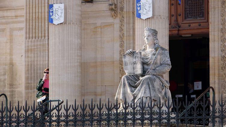 L'entrée du palais de justice de Perpignan, en février 2017. (MAXPPP)