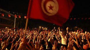 Des manifestants réclament la démission du gouvernement devant l'Assemblée constituante à Tunis (Tunisie), le 28 juillet 2013. (ANIS MILI / REUTERS)