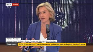 Valérie Pécresse, sur franceinfo, jeudi 24 juin. (FRANCEINFO / RADIO FRANCE)