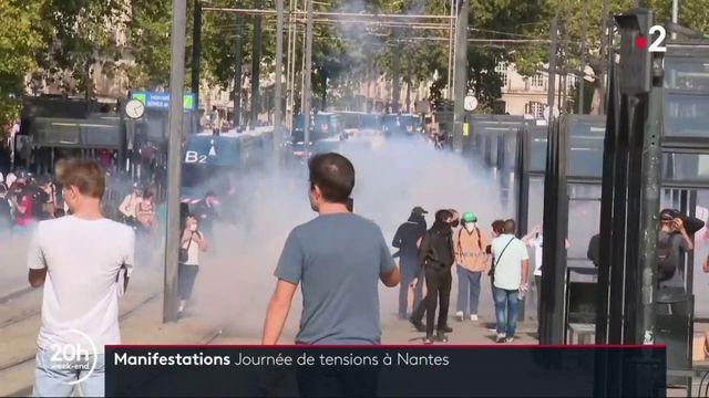 Nantes : rassemblements sous tension
