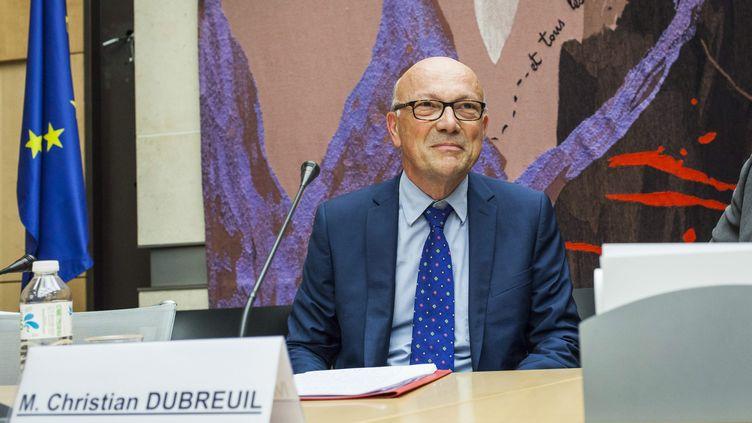 Christian Dubreuil, auditionné le 15 juillet 2015 à l'Assemblée nationale en vue de sa nomination comme directeur général de l'ONF. (MAXPPP)
