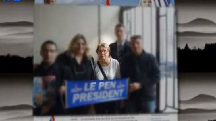 Micheline Beysserias, 92 ans, est suppléante sur la liste FN de la ville d'Ambert (Puy-de-Dôme). (FRANCE 2)