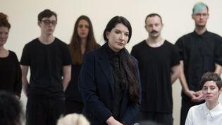 Marina Abramovic à la galerie Serpentine à Londres, le 9 juin 2014  (WILL OLIVER)