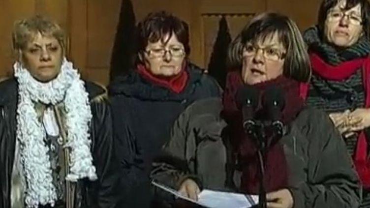 Les salariées de Lejaby à l'Elysée - vendredi 3 février 2012 (France Télévisions)