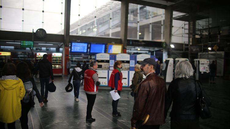 La gare de Nantes (Loire-Atlantique), samedi 19 octobre 2019. (MAXPPP)