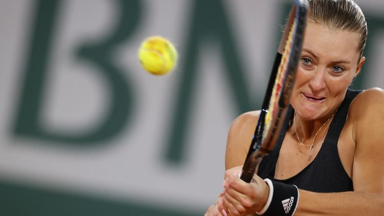 Kristina Mladenovic. (THOMAS SAMSON / AFP)