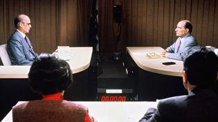 Valéry Giscard d'Estaing et François Mitterrand, le 5 mai 1981  ( BOCCON-GIBOD/SIPA)