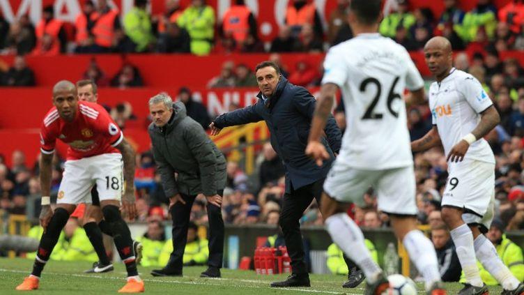 Manchester United s'est imposé 2-0 face à Swansea. (LINDSEY PARNABY / AFP)