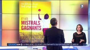 L'affiche du film Et les mistrals gagnants et sa réalistarice Anne-Dauphine Julliand (France 3)