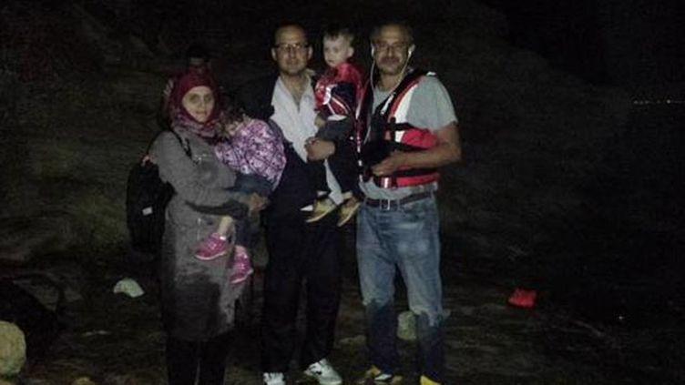 (La famille syrienne à son arrivée en Grèce © RF / Omar Ouahmane)