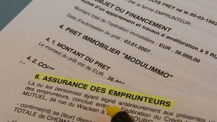 Des détails sur l'assurance-emprunteurs. (MAXPPP)
