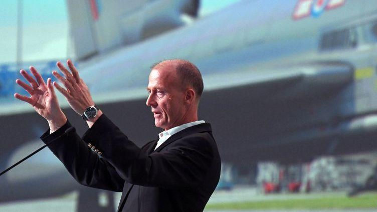 Tom Enders, le PDG d'Airbus, lors d'une conférence de presse en février 2017. (PASCAL PAVANI / AFP)